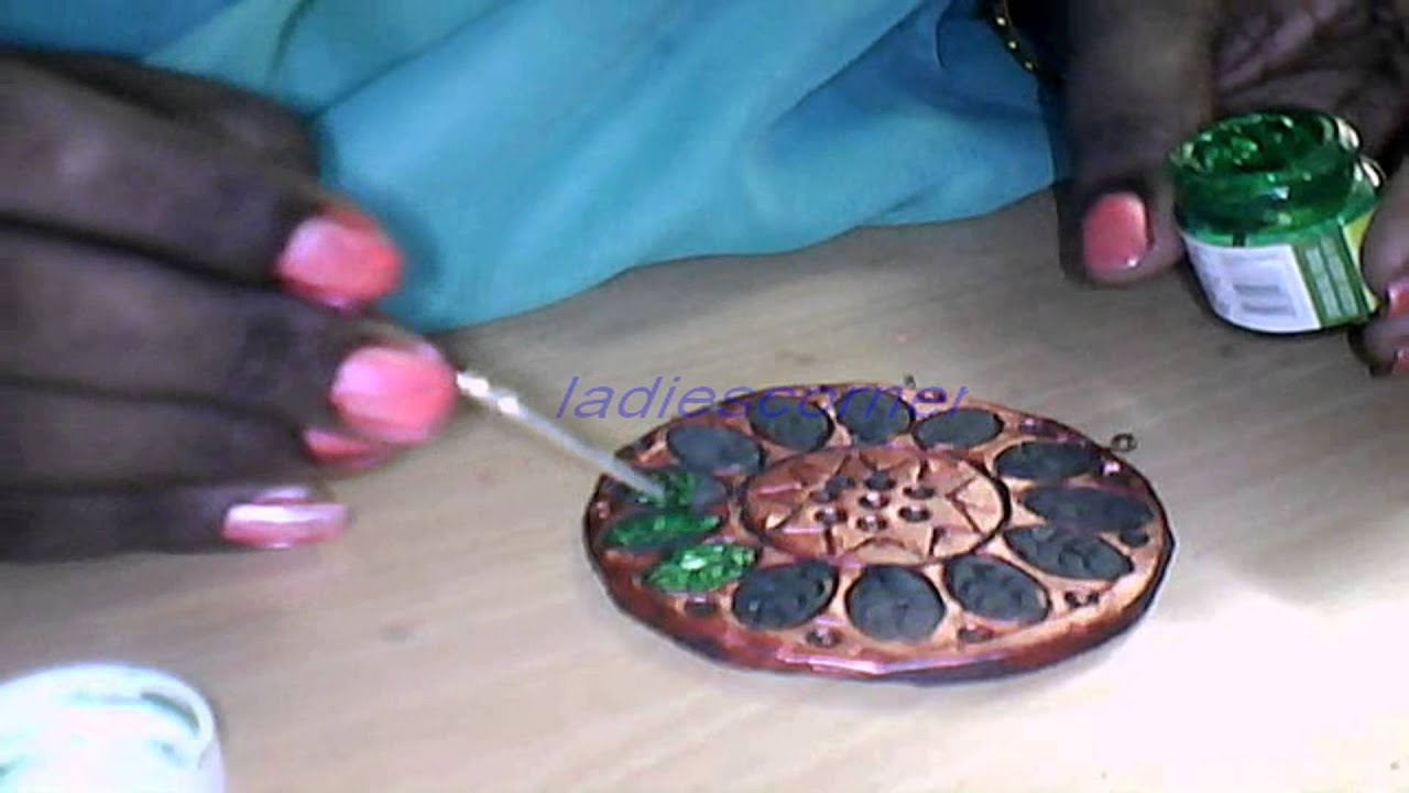 learn how to color terracotta jewellery part 2 (new) - YouTube