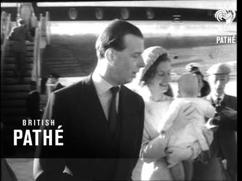 Duke Of Kent Greets Duchess  (1962)