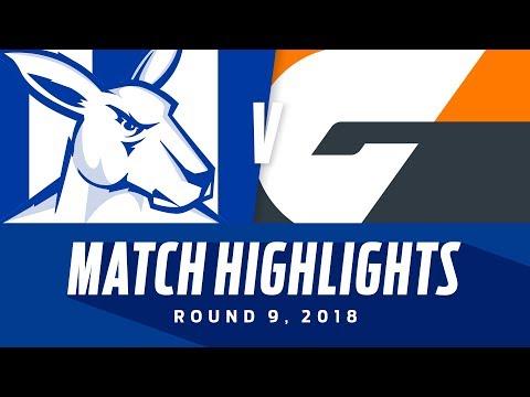 Match Highlights: North Melbourne v GWS Giants | Round 9, 2018 | AFL
