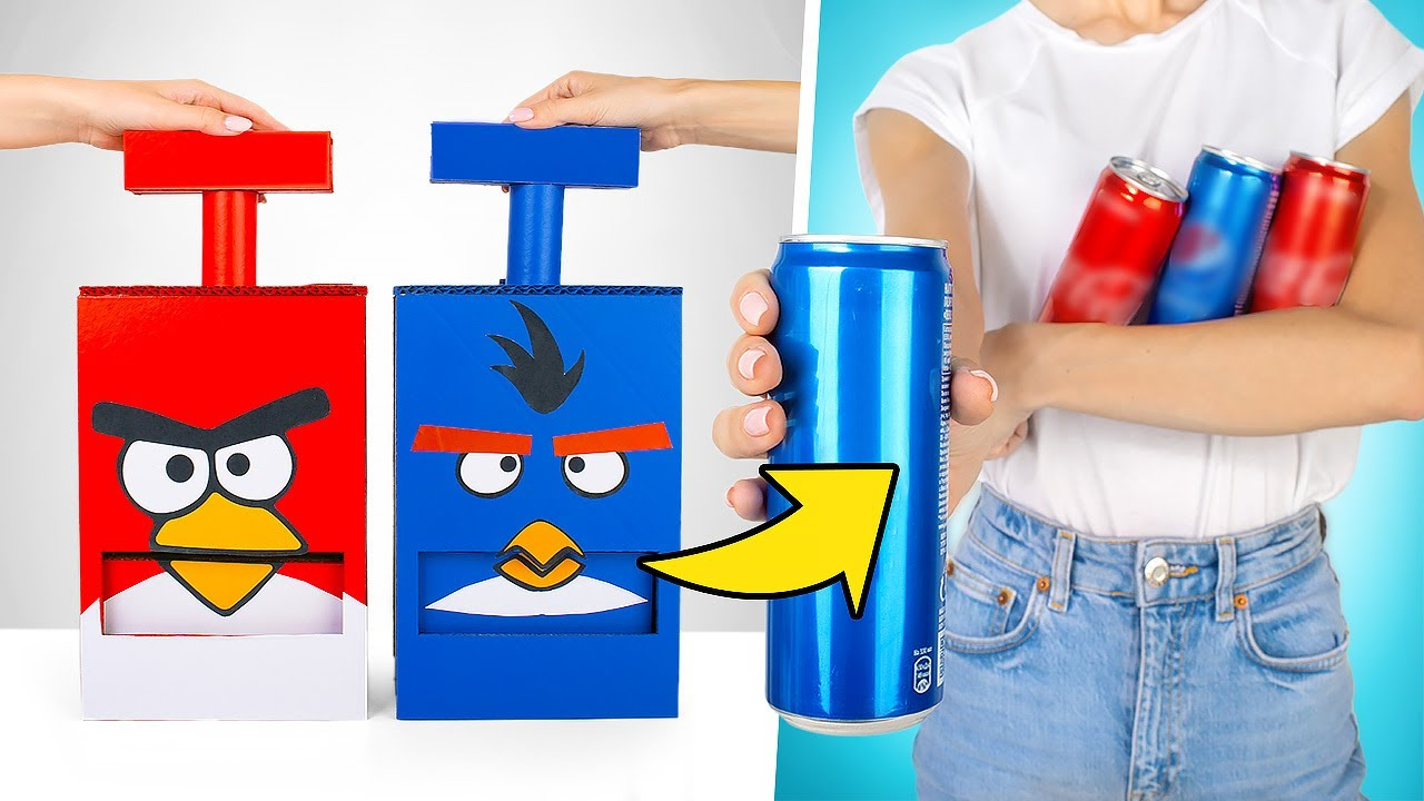 DIY 2 Cool Angry Birds Style Vending Machines!