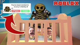 GETTING ADOPTED BY GRANNY! -- Roblox Adopt Me