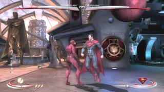 Injustice: Gods Among Us - Avoiding Supers with speed dodge