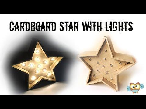 Marquee star DIY  Recycling Cardboard EASY DIY