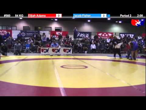 2011 U.S. Open SAT GR 84 KG: Elijah Adams vs. Jacob Fisher Cons. Round 3