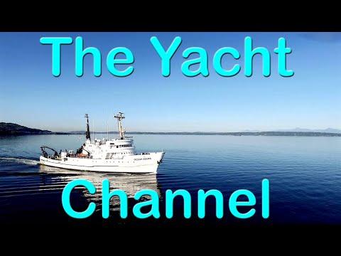 Ocean Starr Research ship leaving Seattle