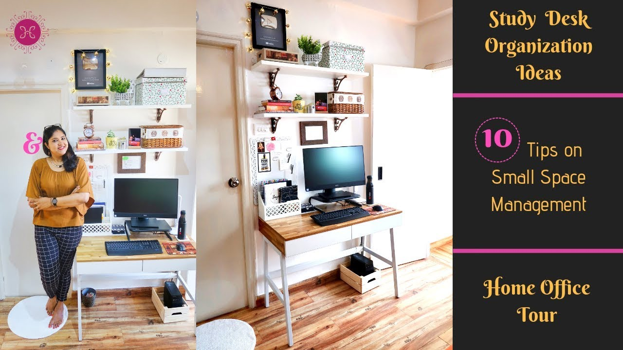 - 10 Study Table Organization Ideas & Decor Tips / Small Space Desk