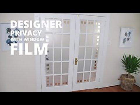 how to install window film on a glass door hgtv