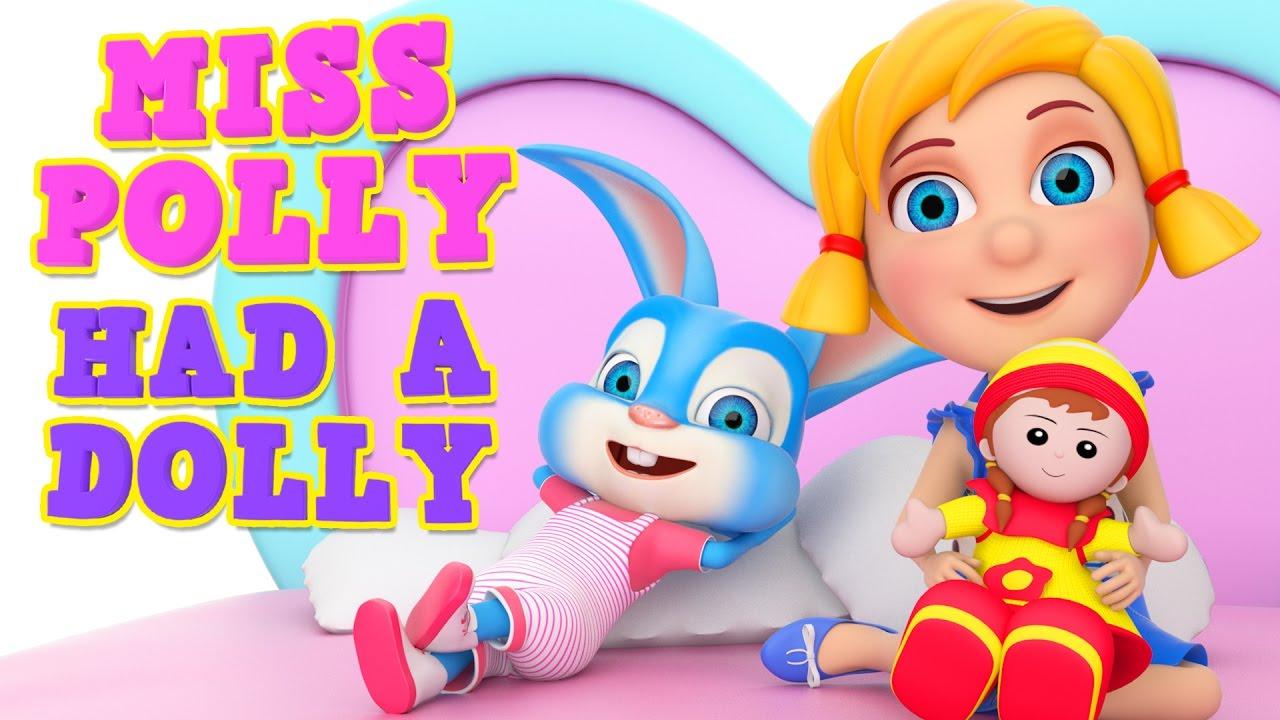 Miss Polly had a Dolly   Best Nursery Rhyme   Woohoo Rhymes 4K ...