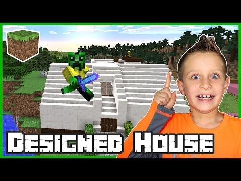 Building a Designed House / Minecraft