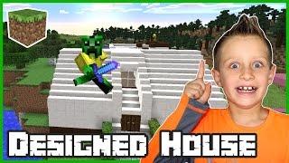 Building a Designed House / Minecraft