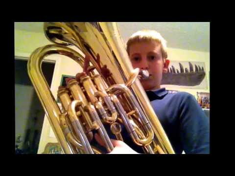 3 Octave B flat Scale On Trombone/Euph