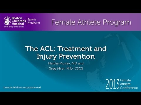 The ACL: Treatment and Injury Prevention in Females Martha Murray, MD Greg Myer, PhD CSCS