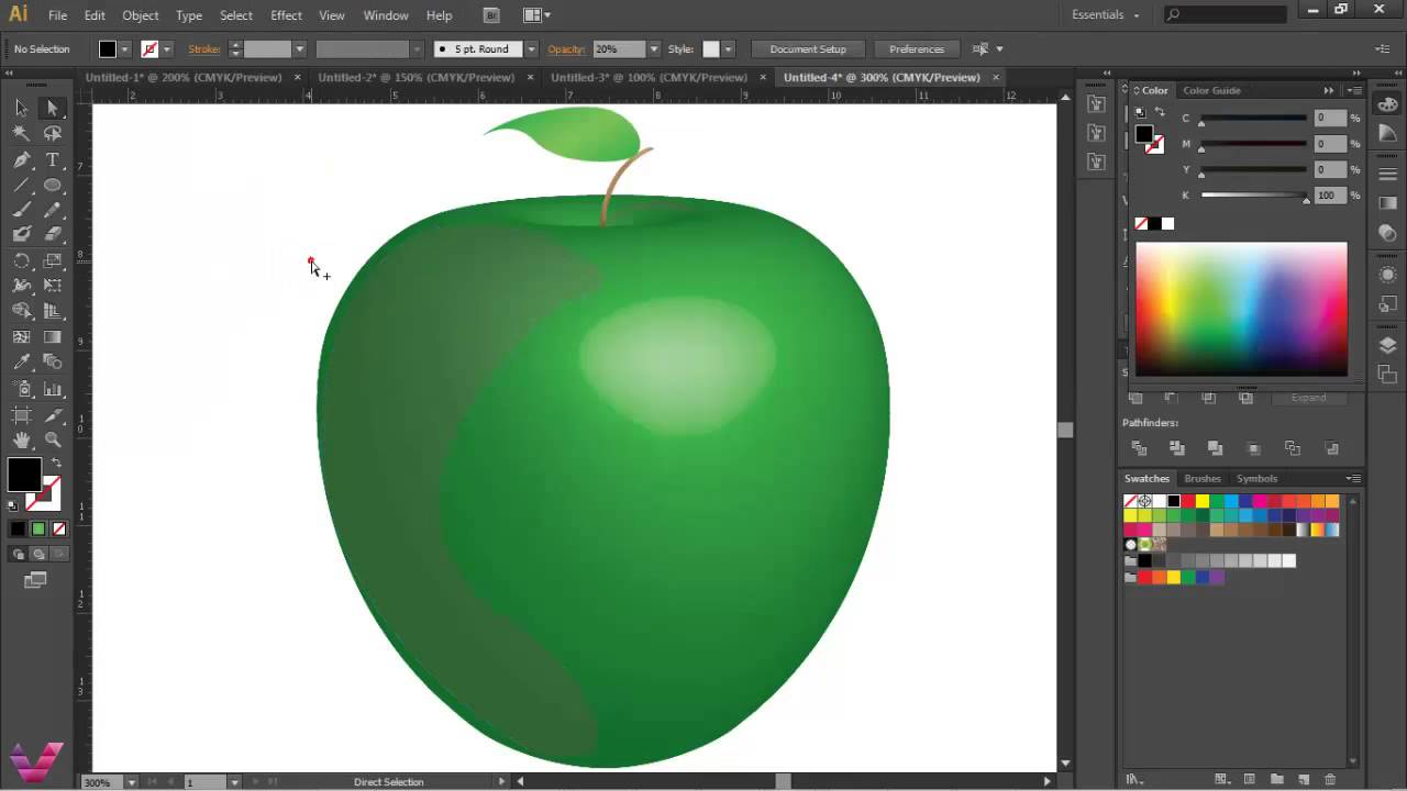 Adobe Illustrator Elma Izimi Youtube