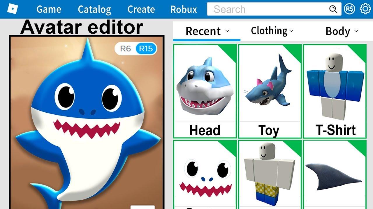 I Made Baby Shark A Roblox Account Youtube