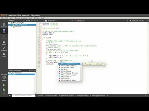 C++ Tutorial: Computing the 1-D FFT using the FFTW library on Ubuntu/Linux