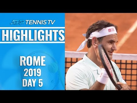 Federer Survives; Nadal and Djokovic Dominate | Rome 2019 Highlights Day 5