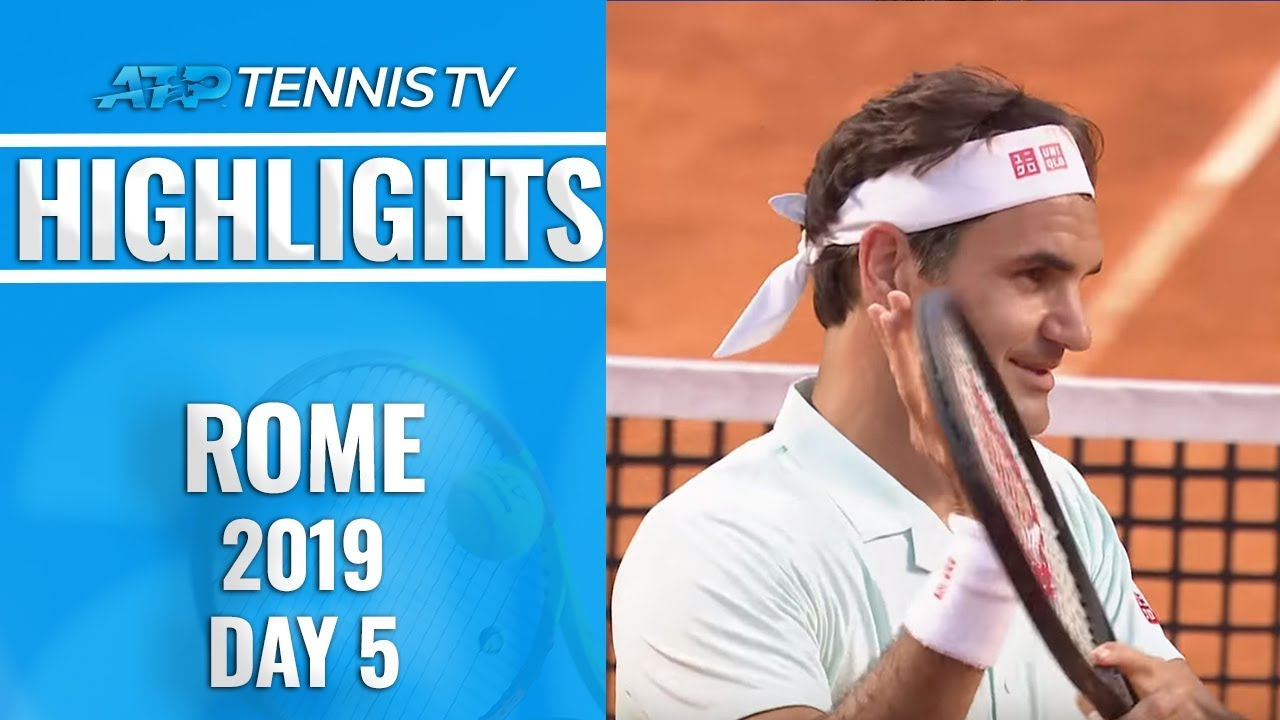 430b261c5b94 Federer Survives; Nadal and Djokovic Dominate | Rome 2019 Highlights Day 5.  Tennis TV