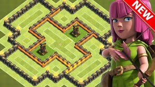 "Clash Of Clans - ""NEW!"" BEST TOWN HALL 6 (TH6) HYBRID BASE w/2 Air Defenses 