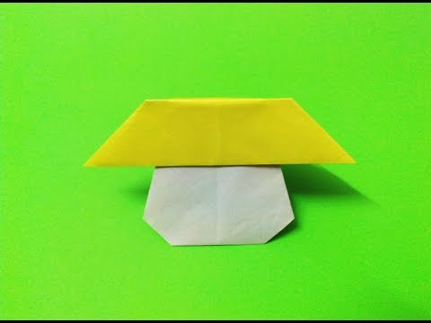 How to make an origami paper mushroom | Origami / Paper Folding Craft, Videos and Tutorials.