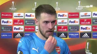 """""""Tonight we showed everyone what we can do!"""" Aaron Ramsey delighted with Arsenal"""