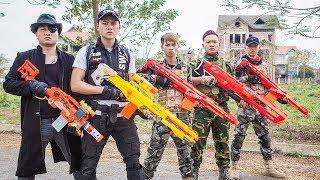 LTT Nerf War : Couple SEAL X Warriors Nerf Guns Fight Intrusion Criminal Group Dr Lee One Eye