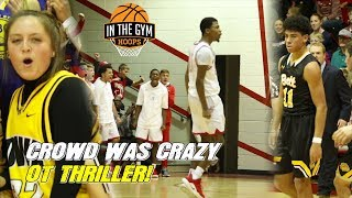 DJ Carton Puts Team on HIS BACK! Opposing Crowd was CRAZY at North Scott!