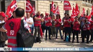 À Marseille, les cheminots ne désarment pas