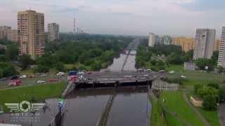 Zalana Warszawa z lotu ptaka / Flooding in Warsaw from above
