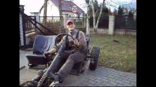 VW Kubelwagen jazda na płycie podłogowej
