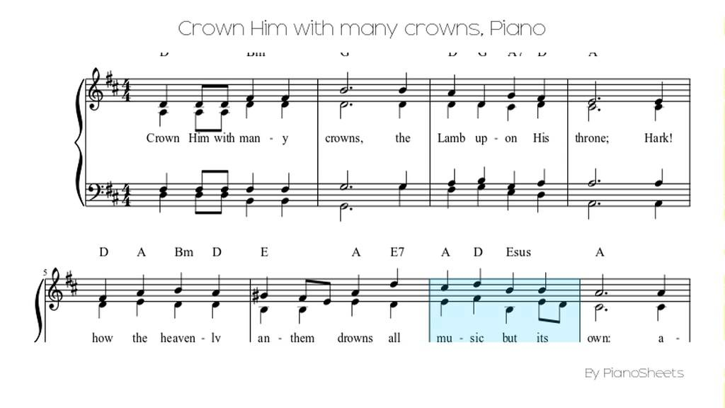 Crown Him with many crowns [Piano Solo] - YouTube