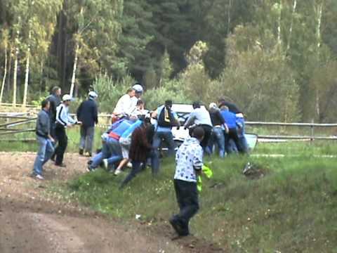 Rally  Latvia  ' 2011 crash