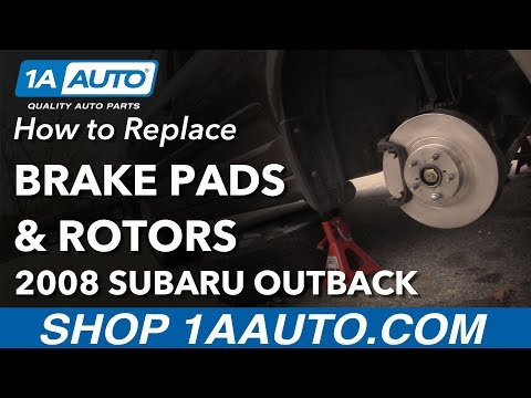How to Replace Front Brake Pads & Rotors 05-14 Subaru Outback