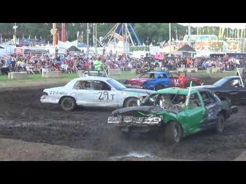 DuPage County Fair Demolition Derby Night Show BS Heat 2