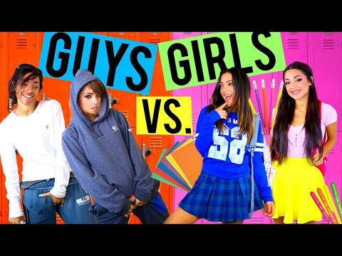 Thumbnail: Guys vs. Girls in HIGH SCHOOL! Niki and Gabi