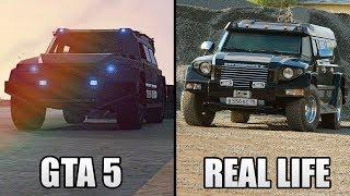 GTA 5 ONLINE NEW GUNRUNNING DLC CARS & VEHICLES IN REAL LIFE! (GTA 5 GUNRUNNING UPDATE)