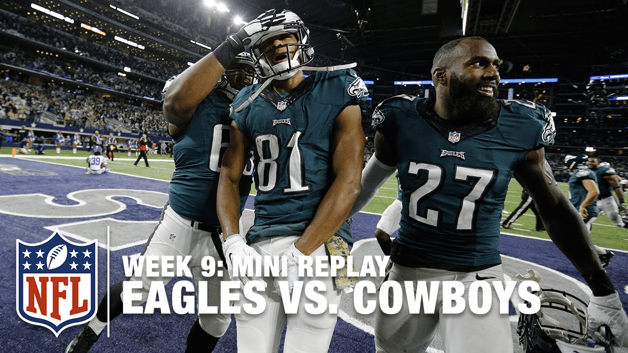 Eagles Vs Cowboys Week 9 Jordan Matthews Vs Dez Bryant Mini Replay Nfl