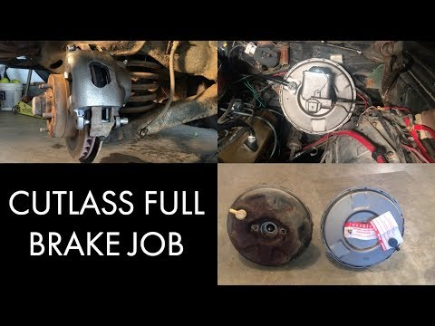 Oldsmobile Cutlass Full Brake Job – Start to Finish – DIY How To – Similar to Chevelle, Camaro