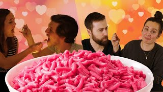 Couples Try Pink Candy Mac & Cheese For Valentine's Day