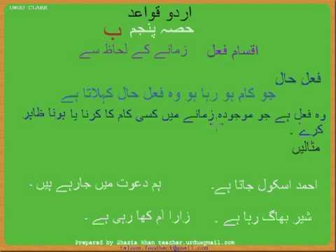 Urdu Grammar Part 5 (b) Types of Fail