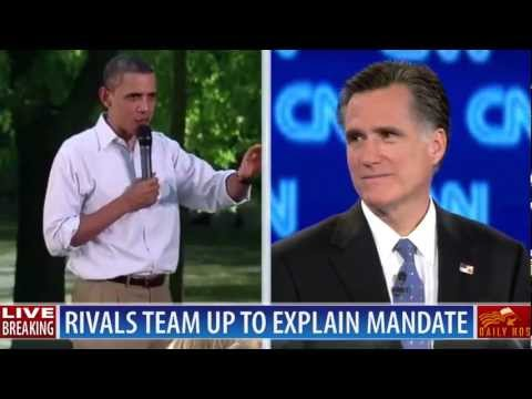 BREAKING: Romney teams up with Obama to explain health care mandate