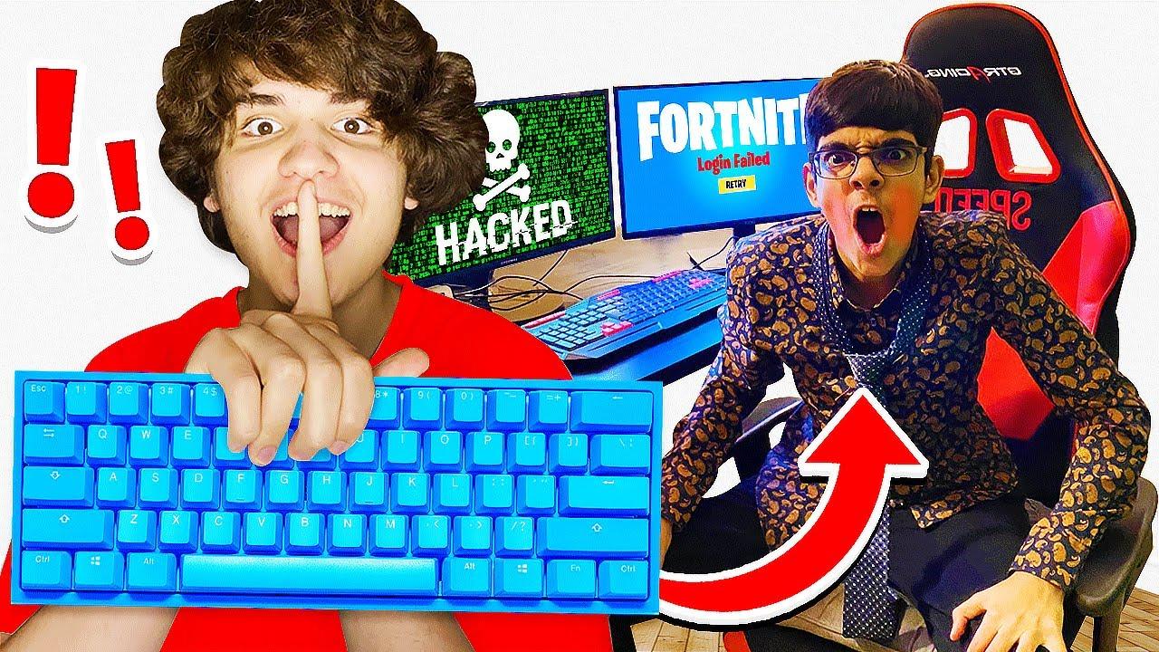 Wireless Keyboard Prank HACK on Rich Kid Playing Fortnite! (N3ON)