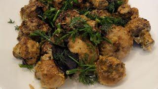 Шампиньоны в духовке. Что делать с грибами, быстрый ужин, что приготовить что-то необычное.Ужин