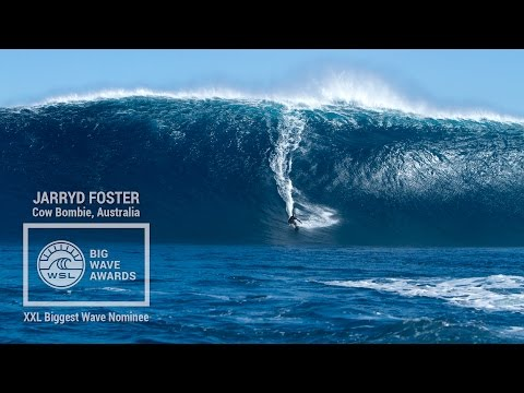 Jarryd Foster at Cow Bombie - 2015 XXL Biggest Wave Nominee - WSL Big Wave Awards