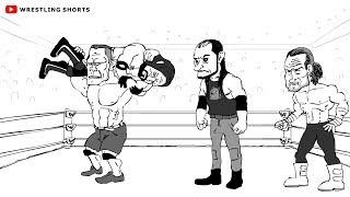 WWE Fastlane Cartoon feat. AJ Styles, John Cena, Kevin Owens, Sami Zayn und mehr