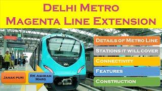 Delhi Metro Magenta line | Janakpuri - RK Ashram Marg | Indian Postman