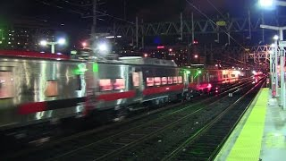 "MNR M8 ""S"" Car Test Train @ Stamford (New Non-Powered Single Cars)"