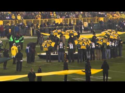 Brett Favre Jersey Retirement With Bart Starr -LIVE AT LAMBEAU FIELD-