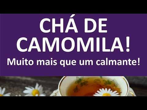 chá de camomila, muito mais do que um calmante!