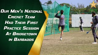 Our Men's National Cricket Team Had Their First Practice Session At Bridgetown in Barbados   PCB