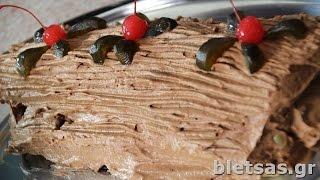 69 - Σοκολατένιος Κορμός με σπιτικο παντεσπάνι (από Βίκυ)